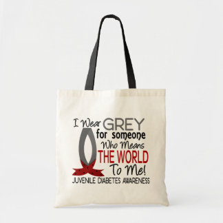 Means The World To Me Juvenile Diabetes Tote Bags