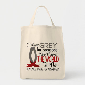 Means The World To Me Juvenile Diabetes Grocery Tote Bag