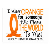 Means The World To Me Kidney Cancer Postcard