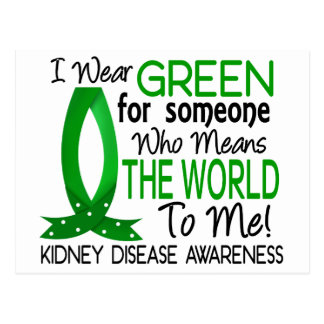Means The World To Me Kidney Disease Postcard