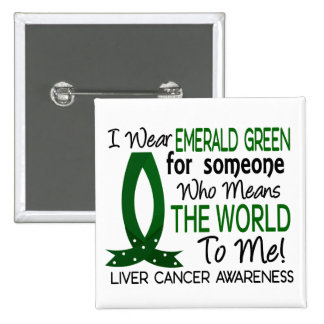 Means The World To Me Liver Cancer Pinback Buttons