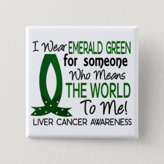 Means The World To Me Liver Cancer Pinback Button