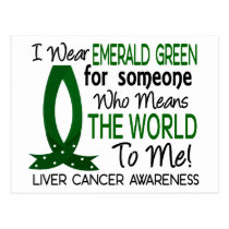 Means The World To Me Liver Cancer Postcard