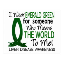 Means The World To Me Liver Disease Postcard