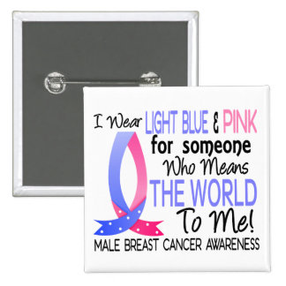 Means The World To Me Male Breast Cancer Pinback Button