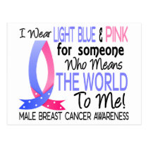 Means The World To Me Male Breast Cancer Postcard