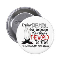 Means The World To Me Mesothelioma Pinback Button