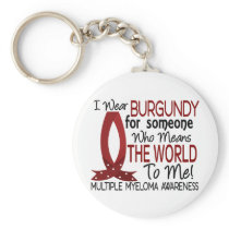 Means The World To Me Multiple Myeloma Keychain