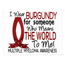 Means The World To Me Multiple Myeloma Postcard