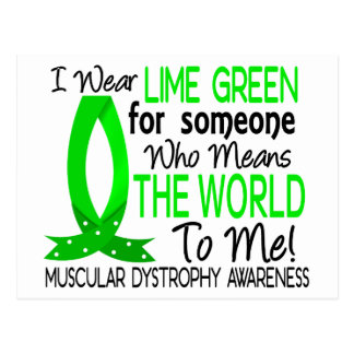 Means The World To Me Muscular Dystrophy Postcard