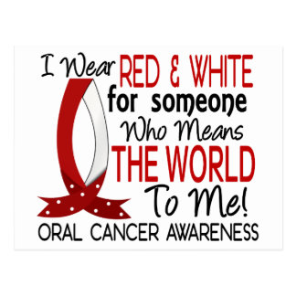 Means The World To Me Oral Cancer Postcard