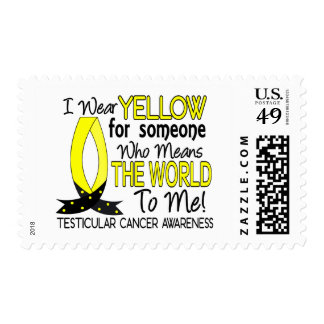 Means The World To Me Testicular Cancer Postage Stamp