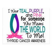 Means The World To Me Thyroid Cancer Postcard