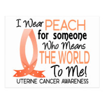 Means The World To Me Uterine Cancer Postcard