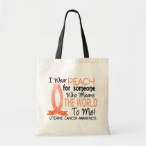 Means The World To Me Uterine Cancer Tote Bag