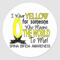 Means World To Me 1 Spina Bifida Classic Round Sticker