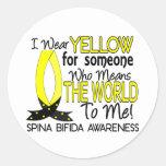 Means World To Me 1 Spina Bifida Classic Round Sticker