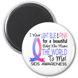 Meant The World To Me SIDS 2 Inch Round Magnet