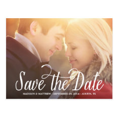 Meant To Be | Save The Date Postcard at Zazzle