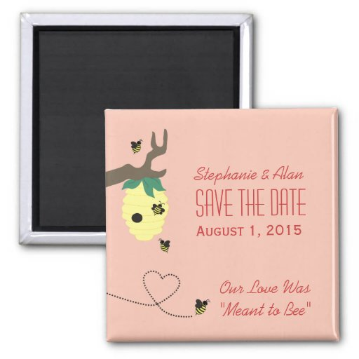 Meant To Bee Save The Date Magnet