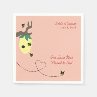 Meant to Bee Wedding Paper Napkins