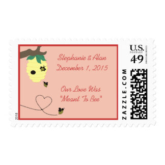 Meant to Bee Wedding Postage