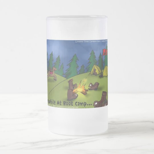 Meanwhile @ Boot Camp Funny Tees Cards Gifts Etc Frosted Glass Beer Mug