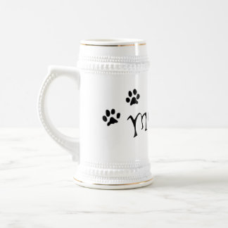 Meaow Animals Cats Pets Paws Letters Black White Coffee Mugs