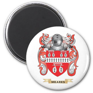 Meares Coat of Arms (Family Crest) 2 Inch Round Magnet