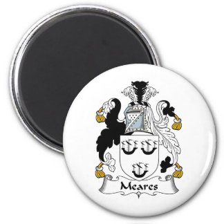 Meares Family Crest 2 Inch Round Magnet