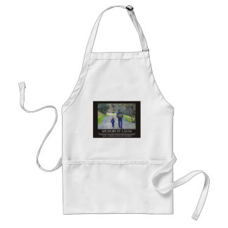 Measure of a Man in the Life of a Child Adult Apron