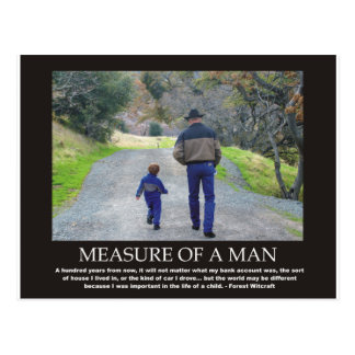Measure of a Man in the Life of a Child Postcard