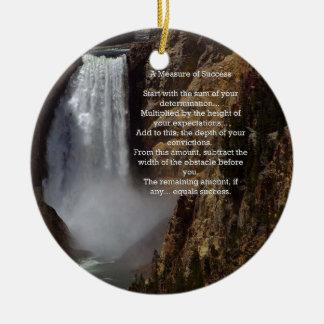 Measure of Success Inspirational Ceramic Ornament