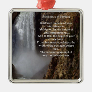 Measure of Success Inspirational Metal Ornament