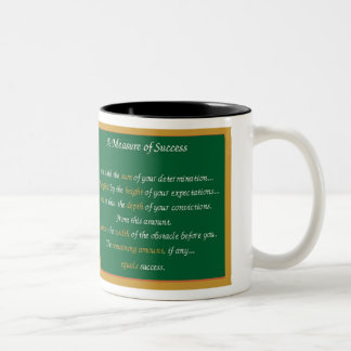 Measure Of Success Inspirations Two-Tone Coffee Mug