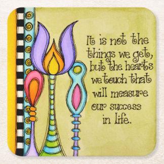 Measure Our Success Square Paper Coaster