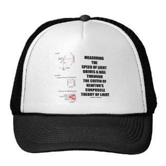 Measure Speed Of Light Newton Corpuscle (Physics) Hat
