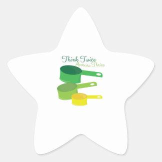 Measure Twice Star Sticker