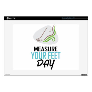 Measure Your Feet Day - Appreciation Day Laptop Skin