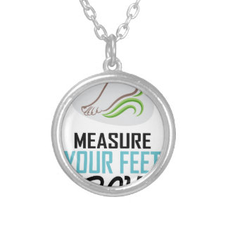 Measure Your Feet Day - Appreciation Day Silver Plated Necklace