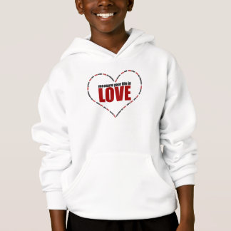 Measure Your Life In Love Heart Shaped Hoodie