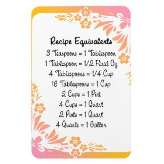 Measurement Equivalents Kitchen Helper Floral Flexible Magnets
