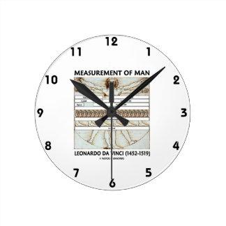 Measurement Of Man (Vitruvian Man da Vinci) Round Clock