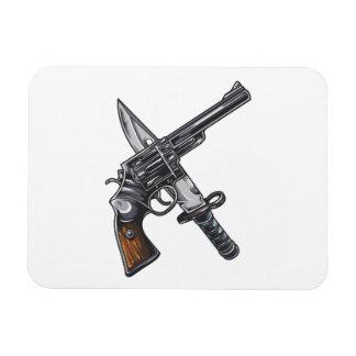 Measurer pistol knife gun magnet