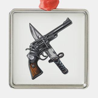 Measurer pistol knife gun christmas ornament