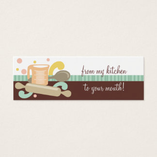 measuring cup spoon rolling pin baking gift tags