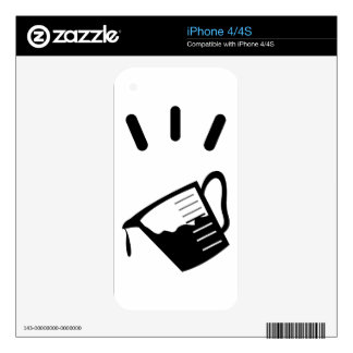 Measuring Glass Decal For iPhone 4