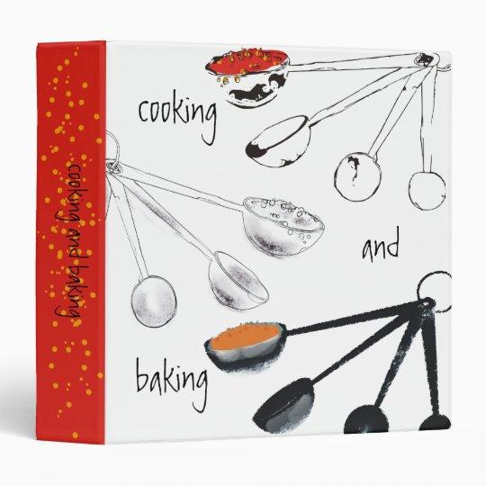 Measuring spoons cooking baking recipe binder