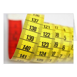 Measuring tape card