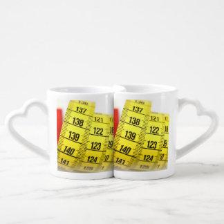 Measuring tape couples coffee mug